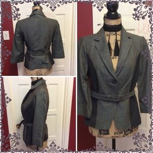 🦉NWT The Limited Gray Multi Color Jacket-Blazer🦉